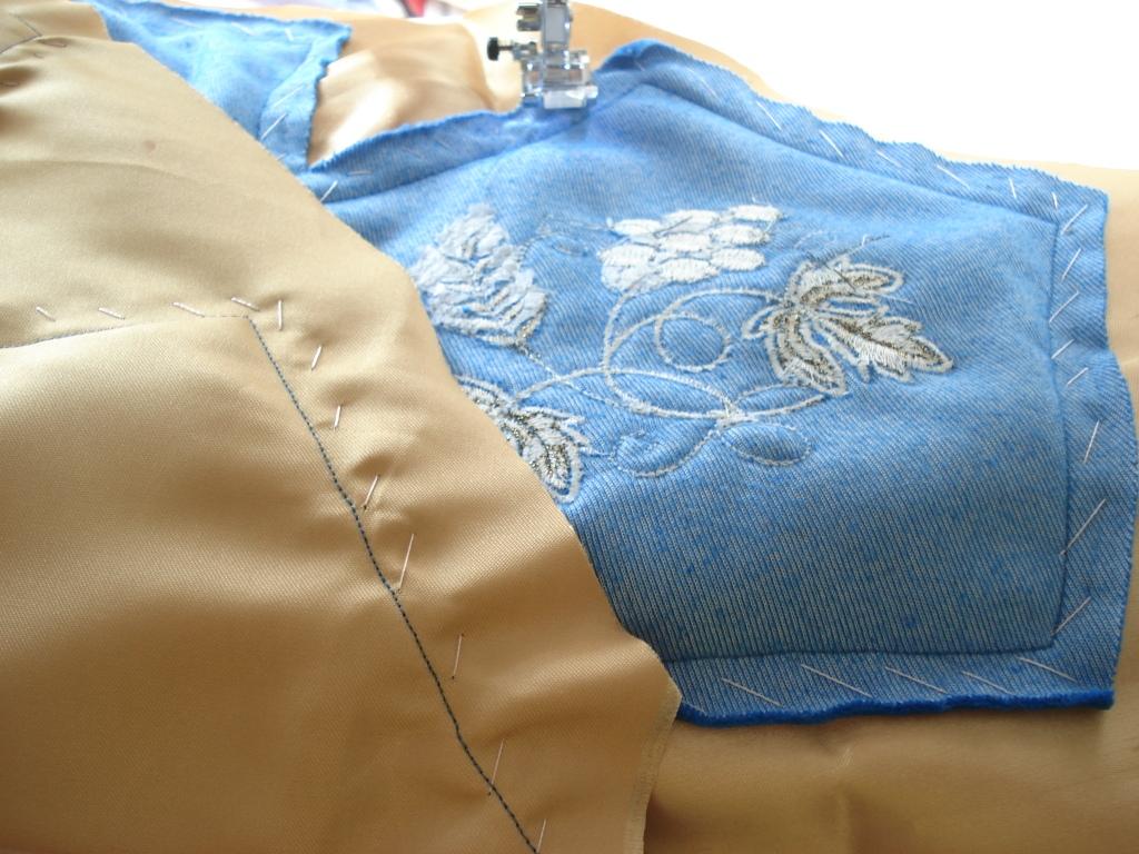 Вышивка на подкладке