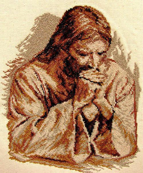 Вышивка иисус христос 4