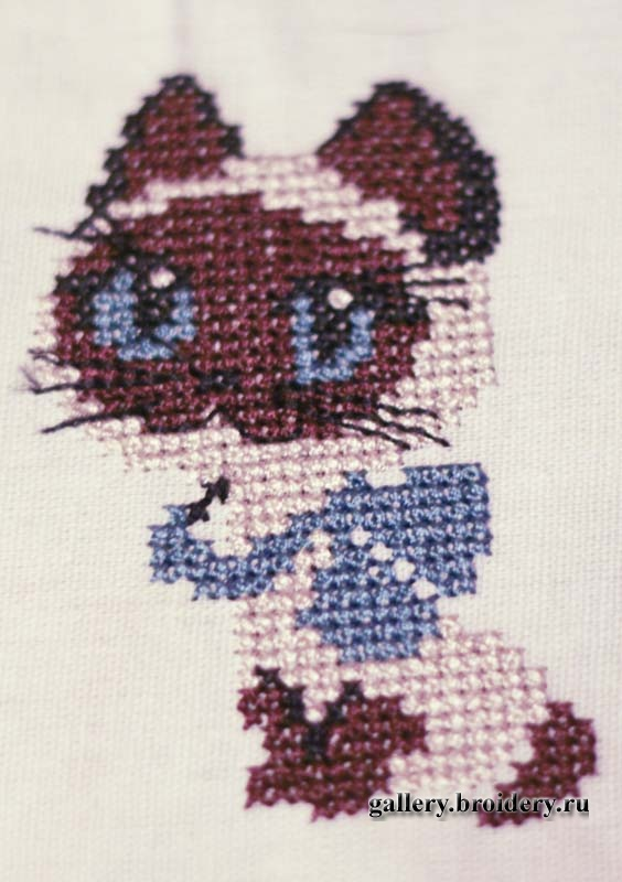 Вышивка котенок гав схема 100