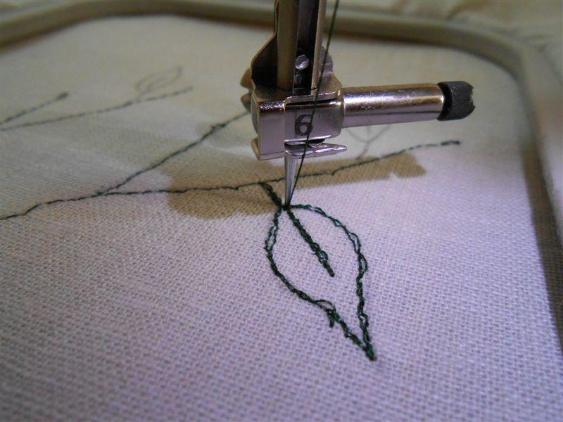 Свободно ходовая машинная вышивка