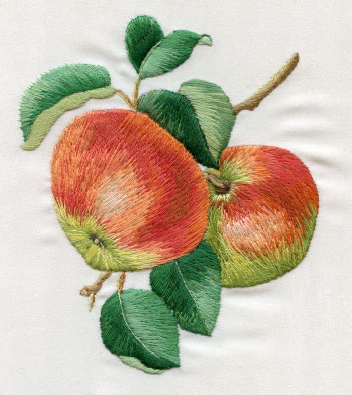 Вышивка фрукты гладью 74