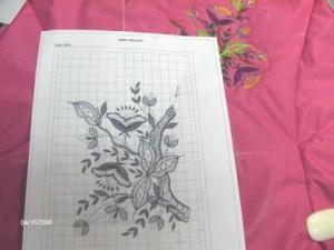 Совмещение дизайна машинной вышивки. Размещение рисунка