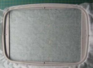 Двухсторонняя вышивка-аппликация. Запяливание