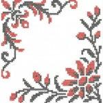 Схема вышивки крестом. Машинная вышивка