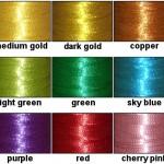 Металлизированные нити для машинной вышивки