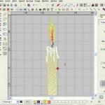 Wilcom ES: Дизайн машинной вышивки Свеча