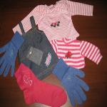 Машинная вышивка на носках и перчатка. Elna 9900