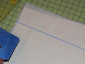 Линия определяющая начало вышивания