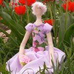 Мастер-класс кукла Тильда на вышивальной машине