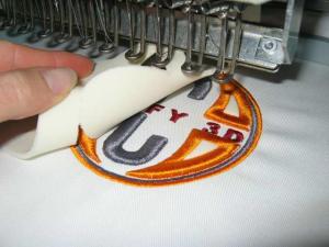 машинная вышивка с puffy
