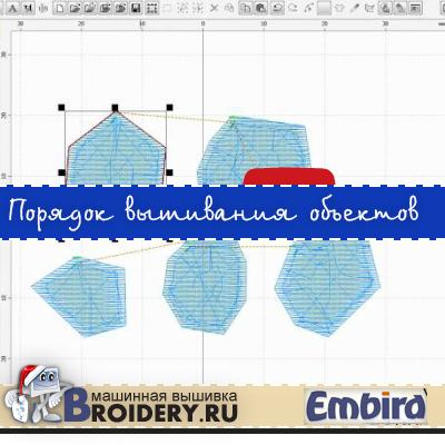 Уроки Embird. Порядок вышивания объектов