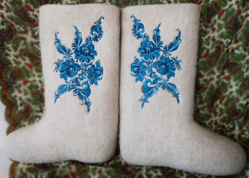Схема вышивки для валенок своими руками