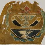 Вышитый текстильный фрагмент