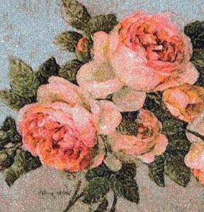 Многократное запяливание. Розы