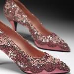 розовые вечерние туфли