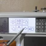 Дисплей вышивальной машины
