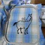 Дизайн машинной вышивки Лошадка. Выполнение