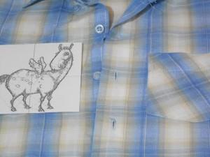 Дизайн машинной вышивки лошадка. Расположение вышивки