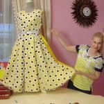 Яркое летнее платье от Ольги Никишичевой
