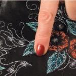 Доработка дизайна машинной вышивки. Добавка недостающих строчек