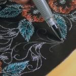 Заполнение пробелов при совмещении дизайна машинной вышивки