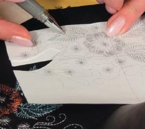 Распечатка дизайна машинной вышивки 1:1