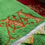 Полотенце с уголками