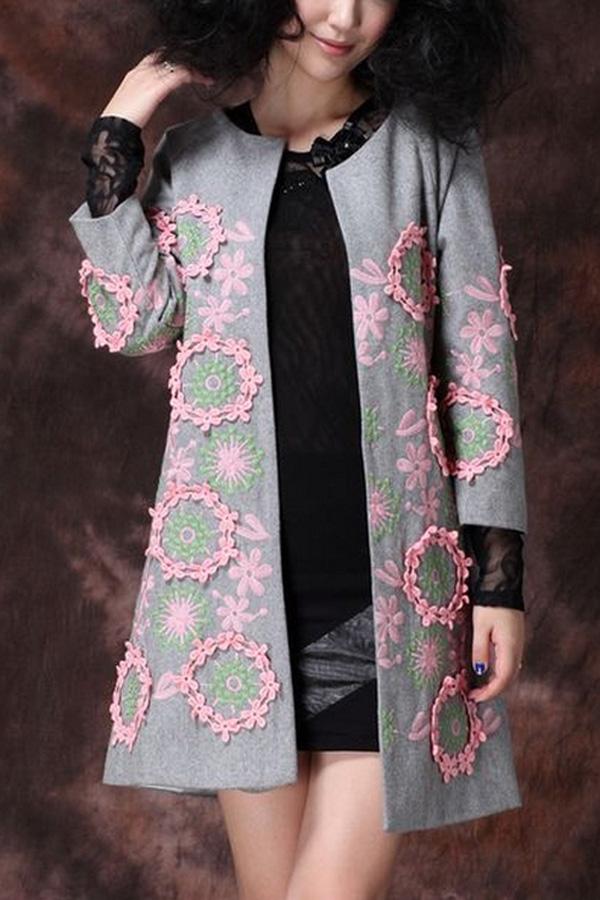 Идеи для вышивки на пальто 70