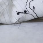 Соединительные строчки при стыковке дизайна машинной вышивки