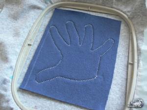 Аппликация заплатка на вышивальной машине