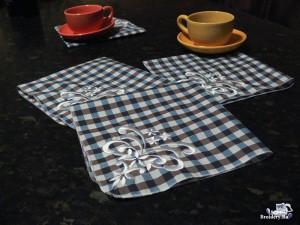Машинная вышивка_Столовые салфетки