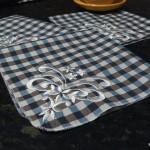 Вышивка на салфетках за одно запяливание