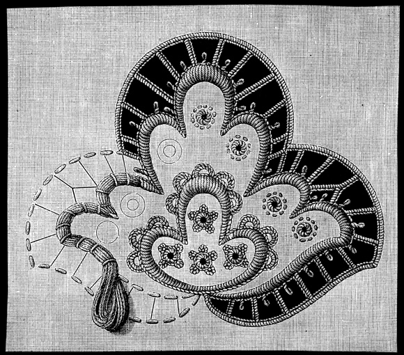 Вид вышивки ришелье