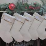Машинная вышивка. Рождественский носок