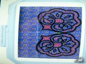 Вышитая салфетка. Дизайн машинной вышивки ришелье