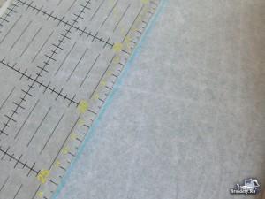 Соединяем две ткани машинной вышивкой 1