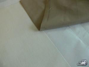 Соединяем две ткани машинной вышивкой 2