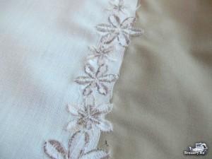 Соединяем две ткани машинной вышивкой 7