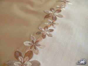 Сшиваем ткани машинной вышивкой