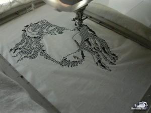 Вышивка крестом монохром