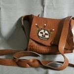 Кожаная сумка. Машинная вышивка