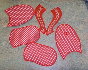 Как вышивать шлепанцы