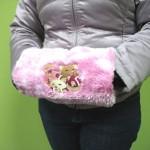 Меховая муфта с вышивкой