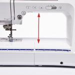 Рабочая область швейной машины по высоте