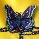 Наталья Рязанова_машинная вышивка_бабочка