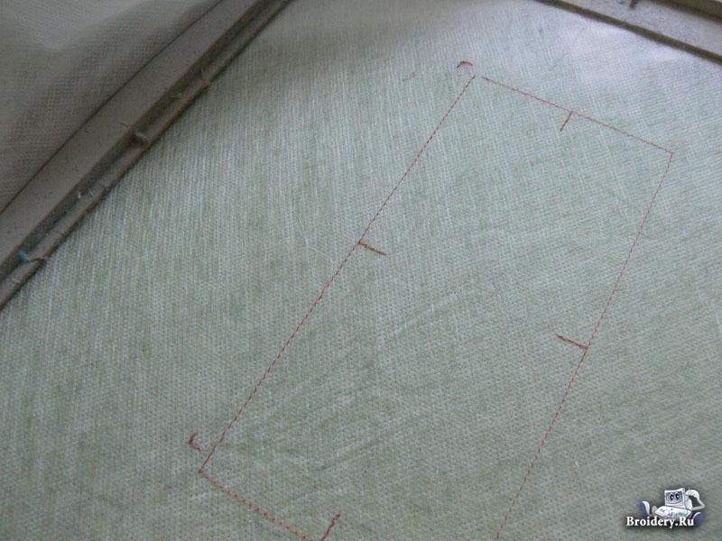 Как стыковать при машинной вышивке