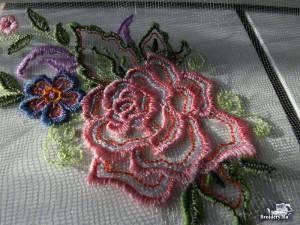 Как вышивать на фатине