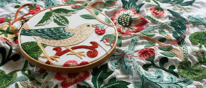 Тамбурная вышивка Юмико Хигучи (Yumiko Higuchi)