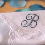 Украшаем носовой платочек машинной вышивкой