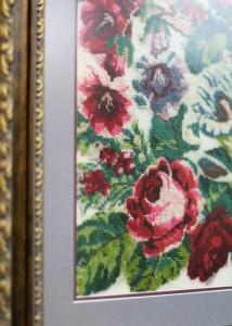 Букет роз, фрагмент. Выставка вышивки